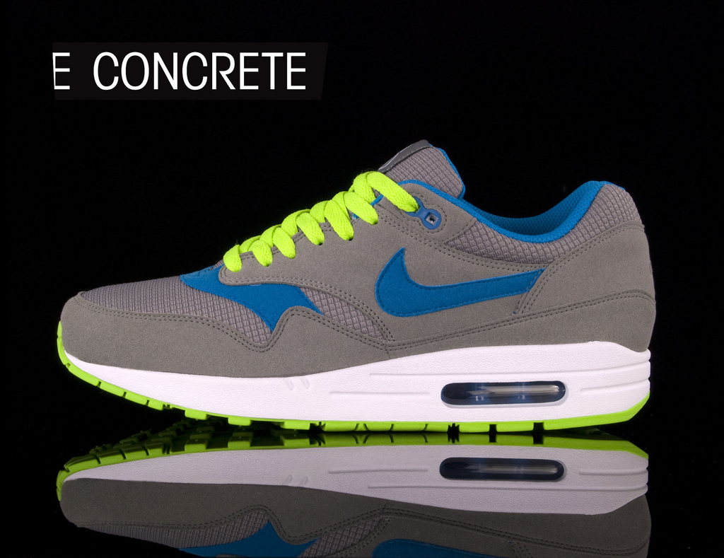 new arrival a24b9 280dc ... Nike Air Max 1 charcoal electric green. Simple .