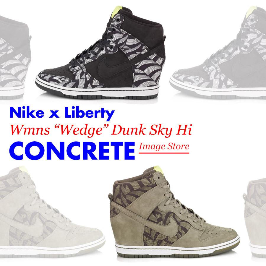 Nike \u0026 Liberty combine to present the Nike Dunk Sky High Sport high top  remixed with the black Lotus Jazz Liberty print.
